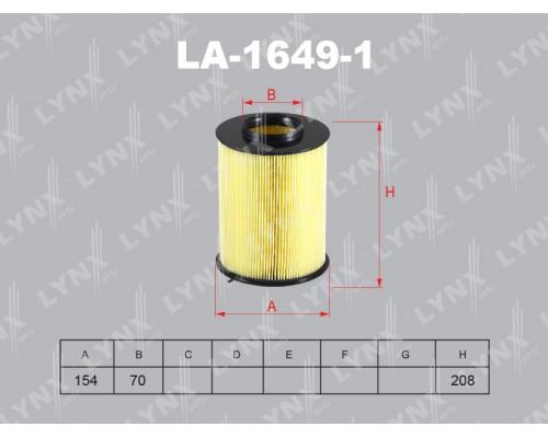 Фильтр воздушный Lynx LA-1649-1