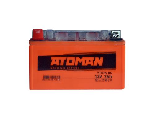 Аккумулятор Atoman 12v, 7 A/ч