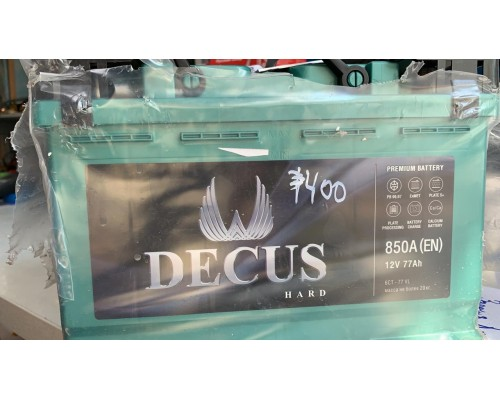 Аккумулятор Decus 77 А/ч, 850 Пуск