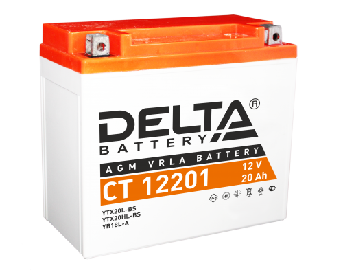 Аккумулятор DELTA BATTERY CT 12201 12V 20 A/ч