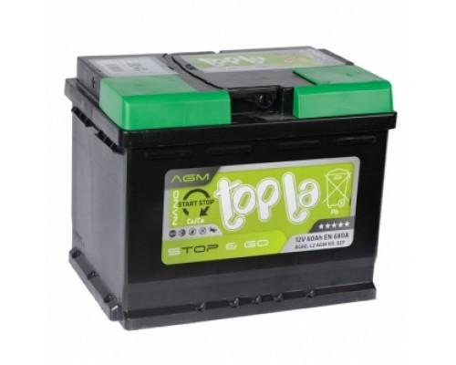Аккумулятор Topla EcoDry 60А/ч 680 Пуск