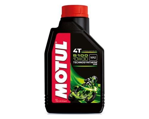 Масло моторное полусинтетическое Motul 5100 4T 10W-30 (1л)
